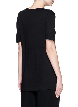 Back View - Click To Enlarge - T By Alexander Wang - Rayon jersey T-shirt