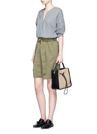 - 3.1 Phillip Lim - 'Soleil' small colourblock leather drawstring bucket bag