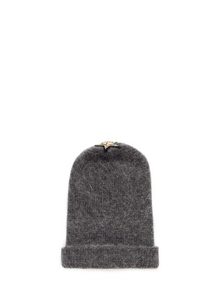 Figure View - Click To Enlarge - Venna - Crystal pavé eye appliqué angora blend knit beanie
