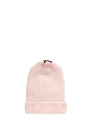 Figure View - Click To Enlarge - Venna - Crystal pavé star appliqué angora blend knit beanie