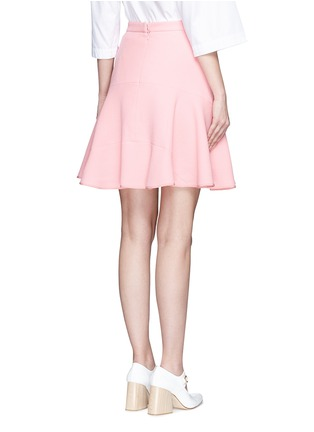 Back View - Click To Enlarge - Peter Pilotto - Tribal embroidery cady crepe virgin wool skirt