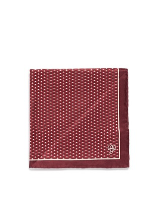 Main View - Click To Enlarge - Canali - 3D diamond print silk pocket square