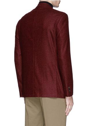 Back View - Click To Enlarge - Canali - 'Kei' wool blend herringbone soft blazer