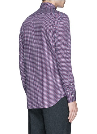 Back View - Click To Enlarge - Canali - Star print cotton shirt