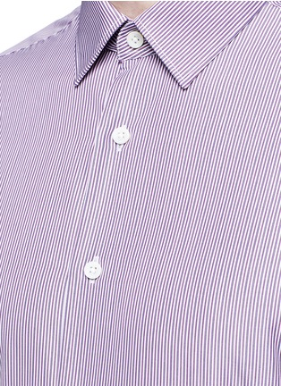 Detail View - Click To Enlarge - Canali - Slim fit stripe cotton shirt