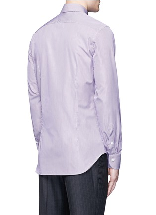 Back View - Click To Enlarge - Canali - Slim fit stripe cotton shirt