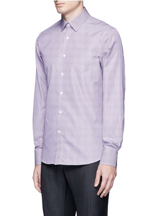 Front View - Click To Enlarge - Canali - Slim fit stripe cotton shirt