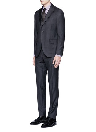 Figure View - Click To Enlarge - Canali - Slim fit stripe cotton shirt