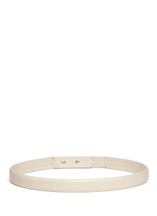 Back View - Click To Enlarge - ISABEL MARANT - 'Root' thin lamb leather belt