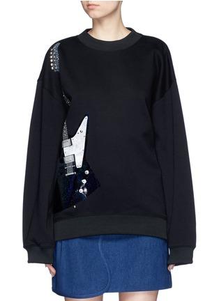 Main View - Click To Enlarge - Acne Studios - 'Beta' guitar patch appliqué sweatshirt