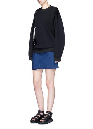 Figure View - Click To Enlarge - Acne Studios - 'Beta' guitar patch appliqué sweatshirt