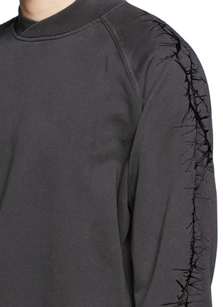 Detail View - Click To Enlarge - Haider Ackermann - Thorn embroidery sleeve sweatshirt