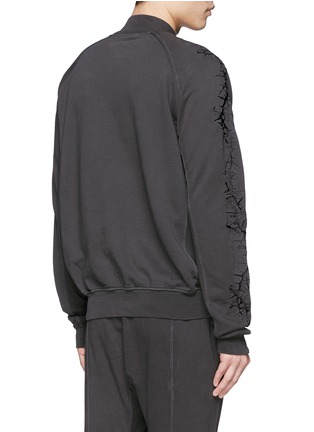 Back View - Click To Enlarge - Haider Ackermann - Thorn embroidery sleeve sweatshirt