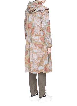 Back View - Click To Enlarge - kolor - Camouflage print long coat