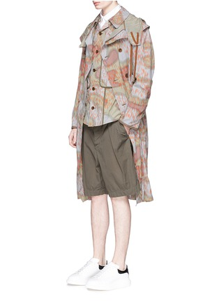 Figure View - Click To Enlarge - kolor - Camouflage print long coat