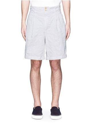 Main View - Click To Enlarge - kolor - Elasticated back crinkle shorts
