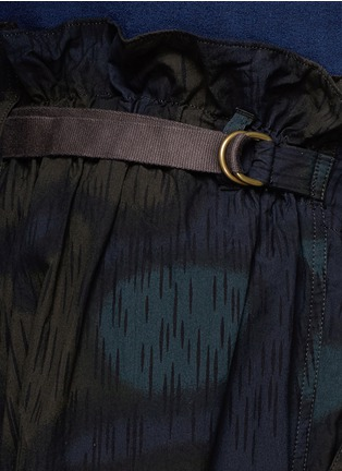 Detail View - Click To Enlarge - kolor - Camouflage print cotton shorts