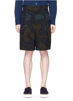 Main View - Click To Enlarge - kolor - Camouflage print cotton shorts