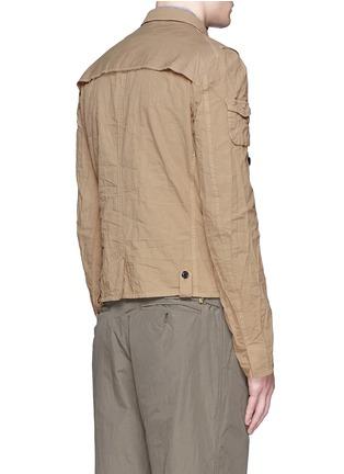 Back View - Click To Enlarge - kolor - Contrast pocket crinkle military jacket
