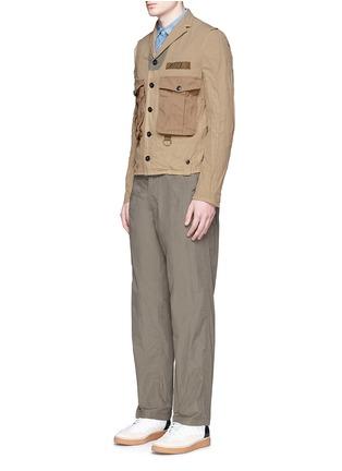 Figure View - Click To Enlarge - kolor - Contrast pocket crinkle military jacket