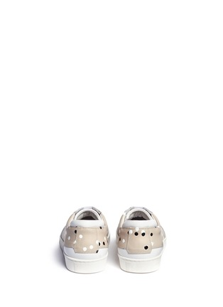 Back View - Click To Enlarge - Want Les Essentiels Shoes - 'Lennon' paint dot leather sneakers