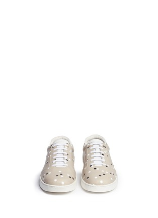 Front View - Click To Enlarge - Want Les Essentiels Shoes - 'Lennon' paint dot leather sneakers