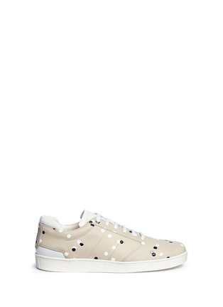 Main View - Click To Enlarge - Want Les Essentiels Shoes - 'Lennon' paint dot leather sneakers