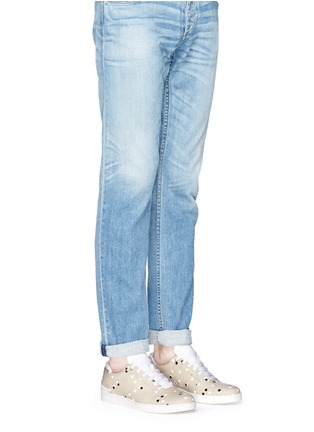 Figure View - Click To Enlarge - Want Les Essentiels Shoes - 'Lennon' paint dot leather sneakers