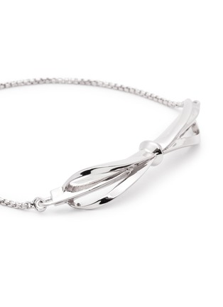 Detail View - Click To Enlarge - Eddie Borgo - 'Bow Toggle' crystal pavé bracelet