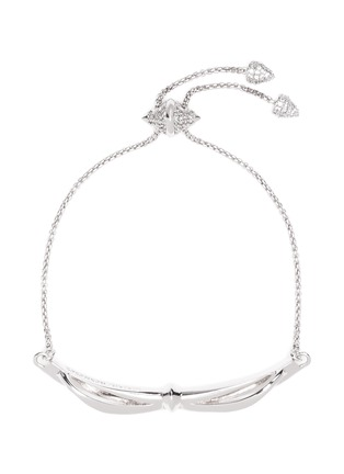Main View - Click To Enlarge - Eddie Borgo - 'Bow Toggle' crystal pavé bracelet