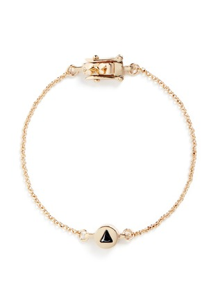 Main View - Click To Enlarge - Eddie Borgo - 'Crystal Triangle' cylindrical charm chain bracelet