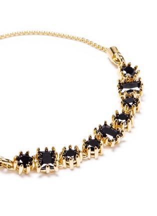 Detail View - Click To Enlarge - Eddie Borgo - 'Crystal Toggle' pavé cone bracelet