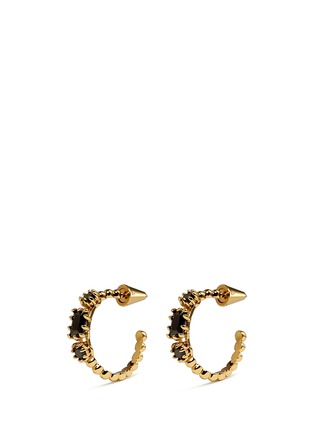 Main View - Click To Enlarge - Eddie Borgo - 'Estate Hoop' rock crystal earrings