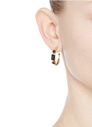 Figure View - Click To Enlarge - Eddie Borgo - 'Estate Hoop' rock crystal earrings