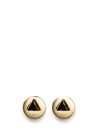 Main View - Click To Enlarge - Eddie Borgo - 'Crystal Triangle' stud earrings