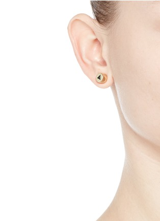 Figure View - Click To Enlarge - Eddie Borgo - 'Crystal Triangle' stud earrings