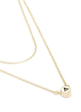 Detail View - Click To Enlarge - Eddie Borgo - 'Crystal Triangle' cylindrical pendant necklace