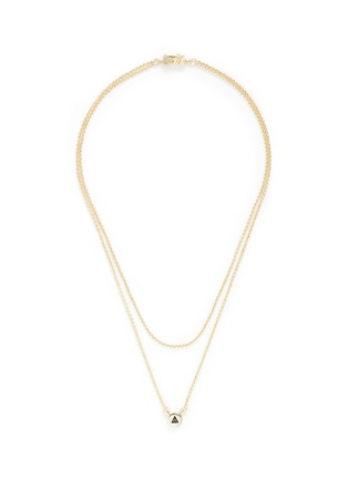 Main View - Click To Enlarge - Eddie Borgo - 'Crystal Triangle' cylindrical pendant necklace