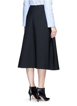 Back View - Click To Enlarge - Ellery - 'Fastrada' pleat virgin wool blend skirt