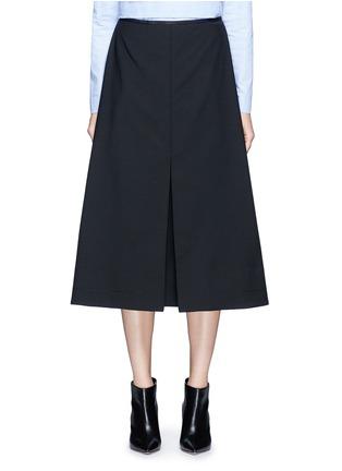 Main View - Click To Enlarge - Ellery - 'Fastrada' pleat virgin wool blend skirt
