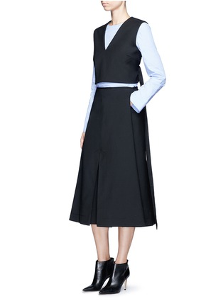 Figure View - Click To Enlarge - Ellery - 'Fastrada' pleat virgin wool blend skirt
