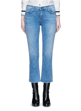 Detail View - Click To Enlarge - Current/Elliott - 'The Kick' relaxed fit cropped jeans