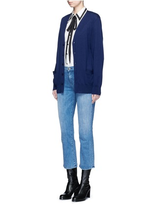 Figure View - Click To Enlarge - Current/Elliott - 'The Kick' relaxed fit cropped jeans
