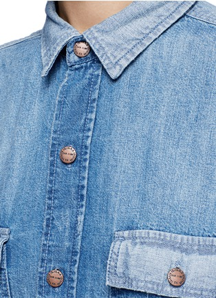 Detail View - Click To Enlarge - Current/Elliott - 'The Whitney Prep' patchwork denim shirt