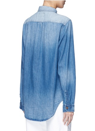 Back View - Click To Enlarge - Current/Elliott - 'The Whitney Prep' patchwork denim shirt