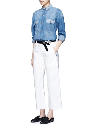 Figure View - Click To Enlarge - Current/Elliott - 'The Whitney Prep' patchwork denim shirt