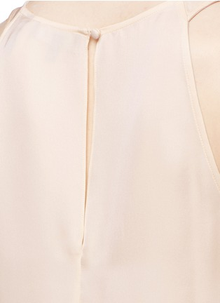 Detail View - Click To Enlarge - Theory - 'Kalstinn' A-line sleeveless silk top