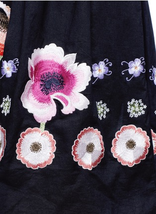 Detail View - Click To Enlarge - Temperley London - 'Sylvie' floral embroidery cotton-silk dress