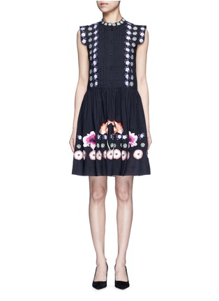 Main View - Click To Enlarge - Temperley London - 'Sylvie' floral embroidery cotton-silk dress