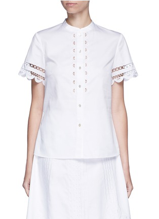 Main View - Click To Enlarge - 68244 - 'Bellanca' guipure lace cotton shirt